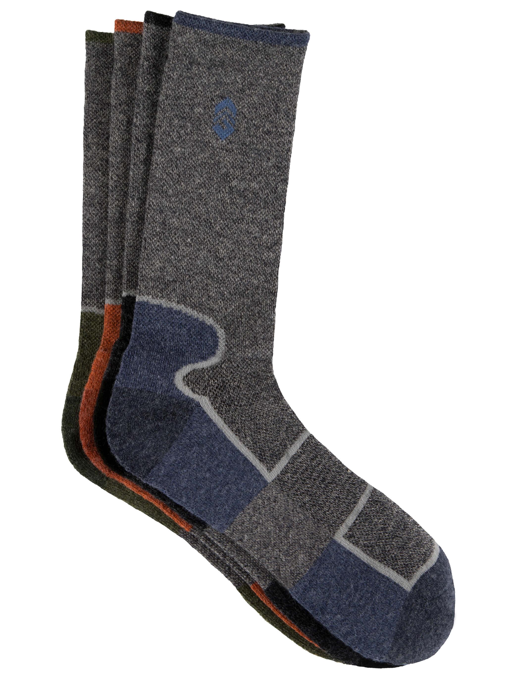 Men's Wool-Blend Colorblock Crew Socks