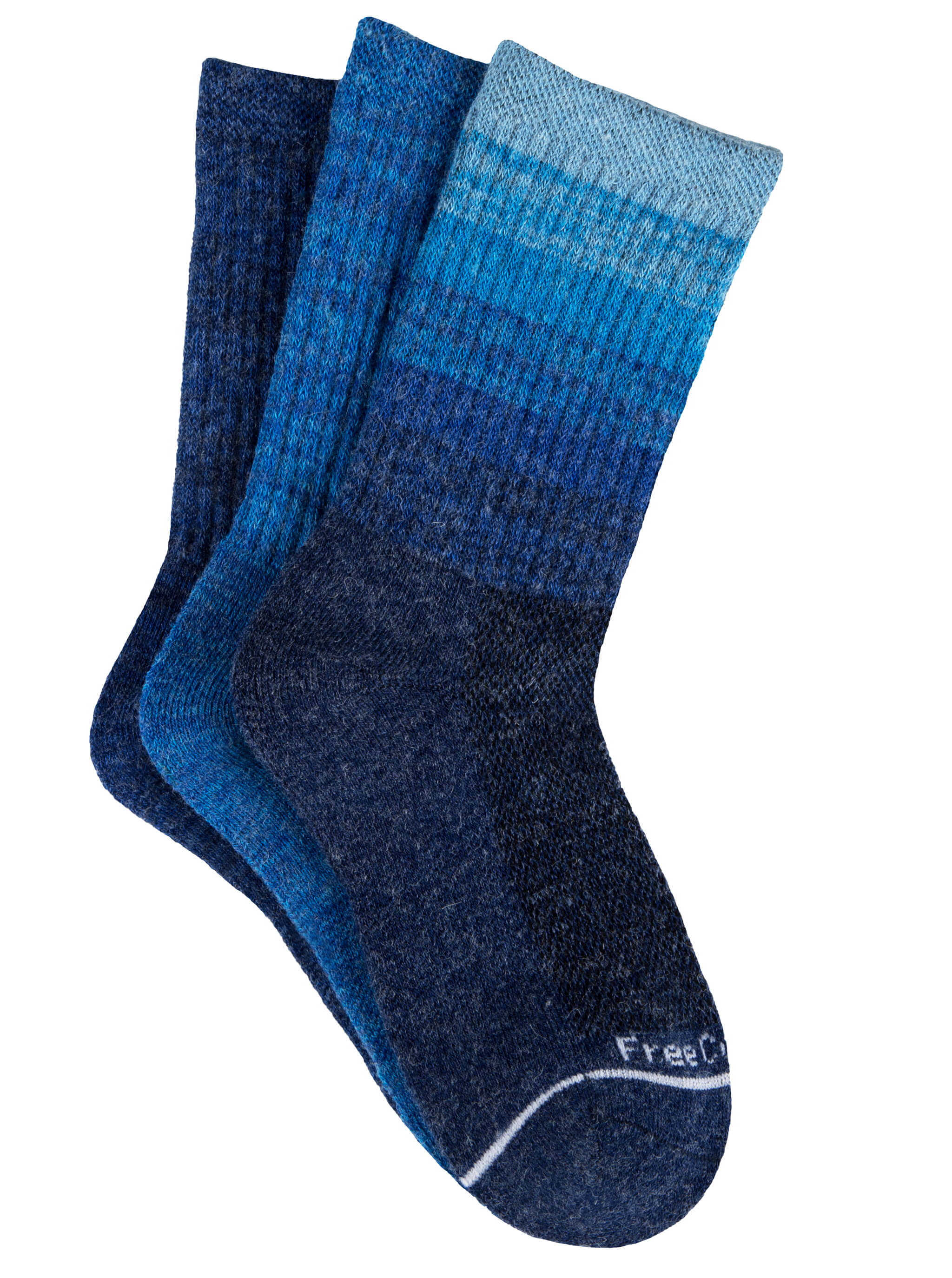 Girls' Wool-Blend Colorblock Ombre Crew Socks