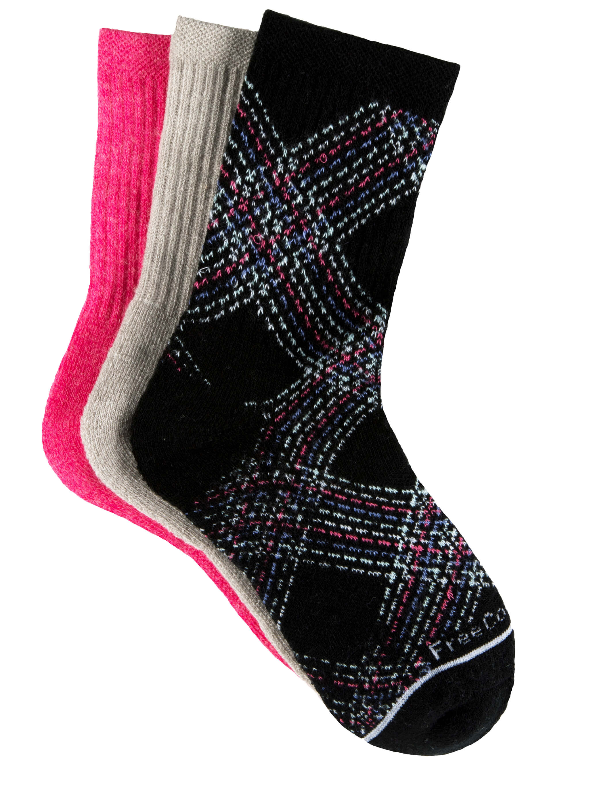 Girls' Wool-Blend Pretty Plaid Crew Socks