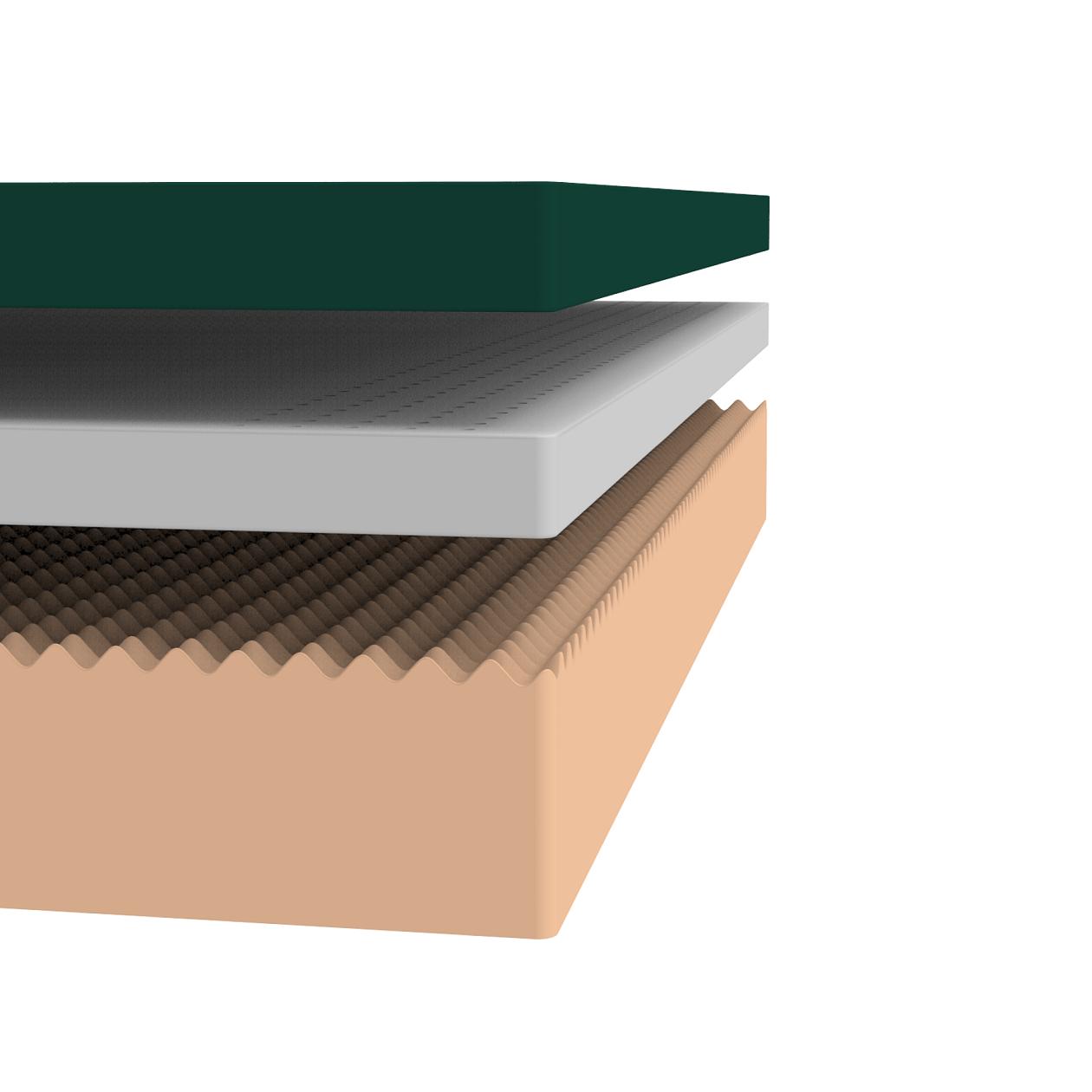 Green Tea Memory Foam Pressure Relief Mattress Zinus