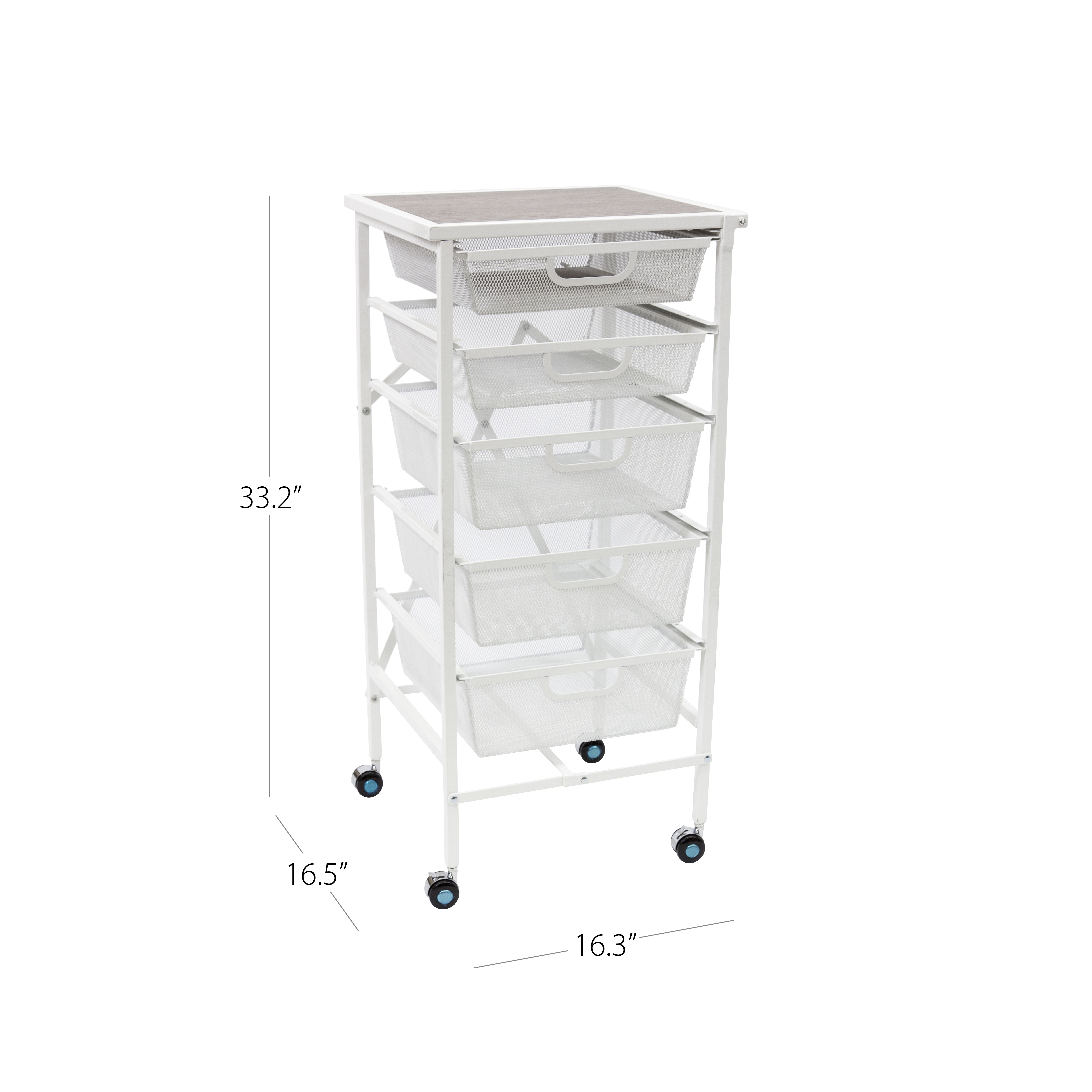Storage Solutions   5 Drawer Storage Cart