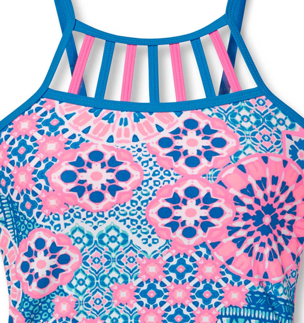 Girls' 2-Piece Santorini Tankini and Short Swim Set