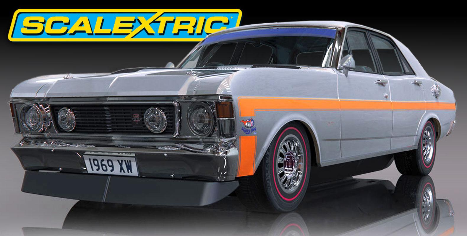 scalextric ford falcon silver fox slot car  10.15.20
