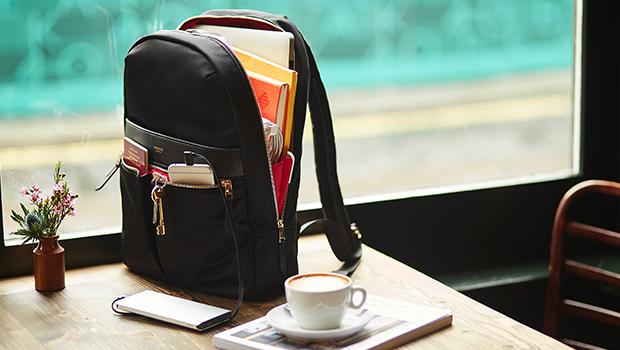 "KNOMO Beauchamp Laptop Backpack - 14"" (V&A Exclusive) Lifestyle Image |knomo.com"