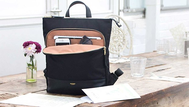 "KNOMO Harewood Laptop Tote Backpack - 15"" (V&A Exclusive) Lifestyle Image 
