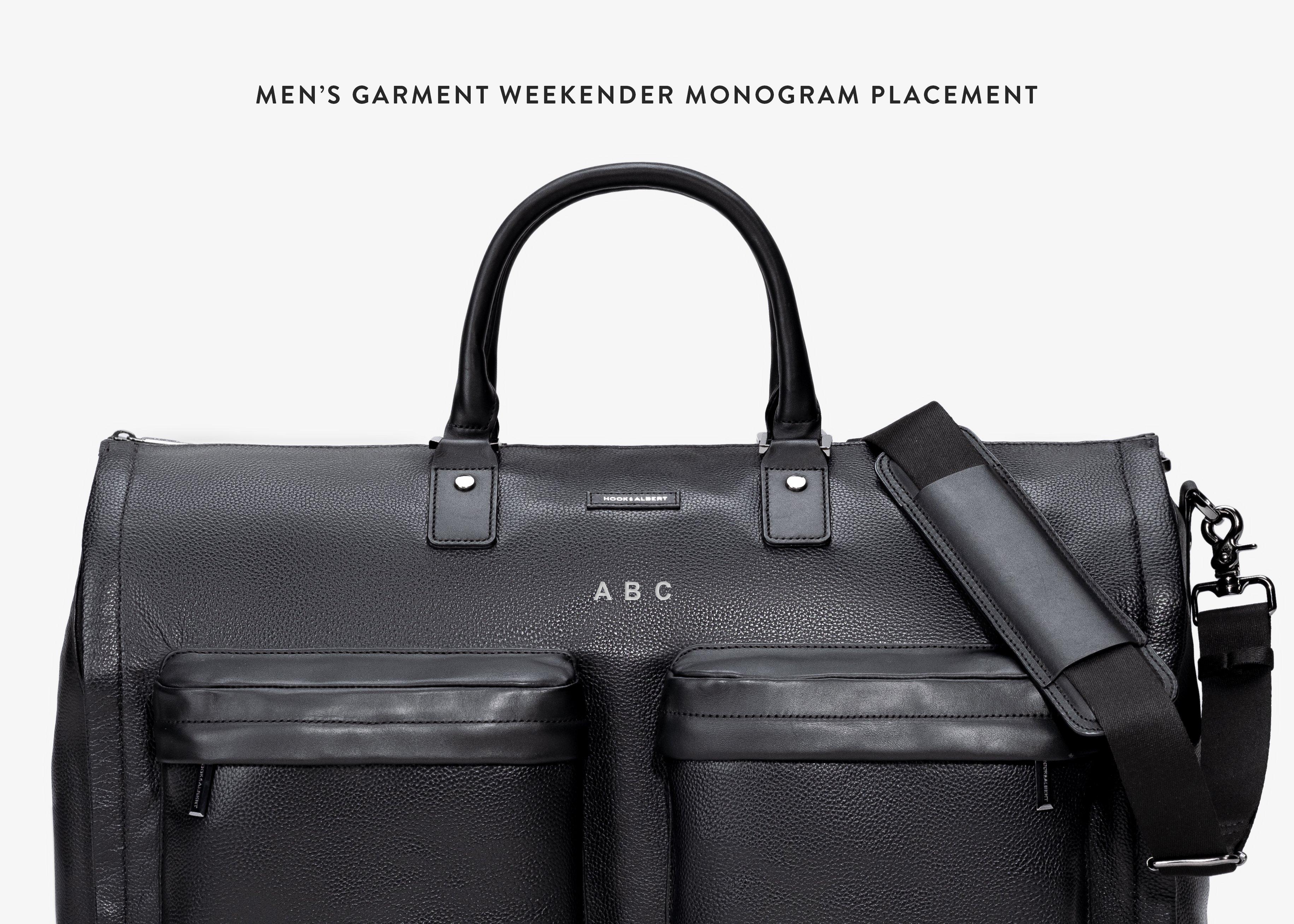 38db24153dbdf4 Men's Brown Leather Garment Weekender Bag – HOOK & ALBERT