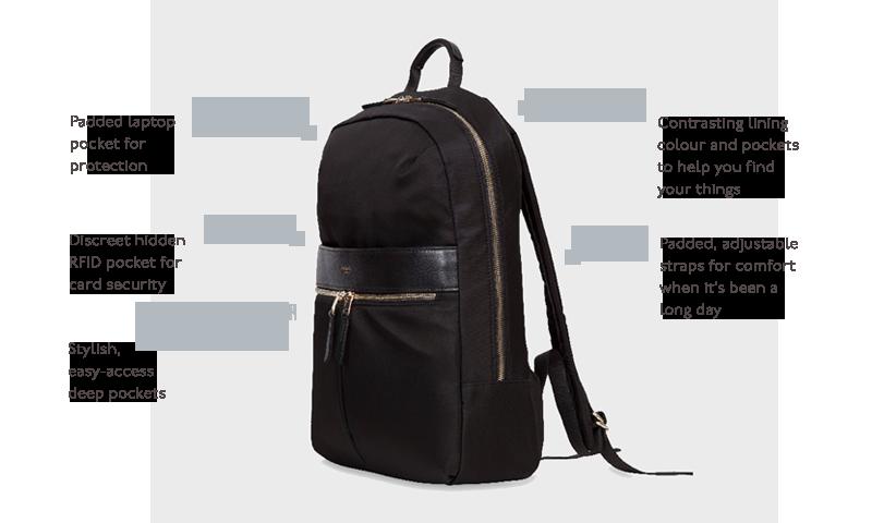 Knomo Luggage Beauchamp Business Backpack Black One Size 119-401-BLK
