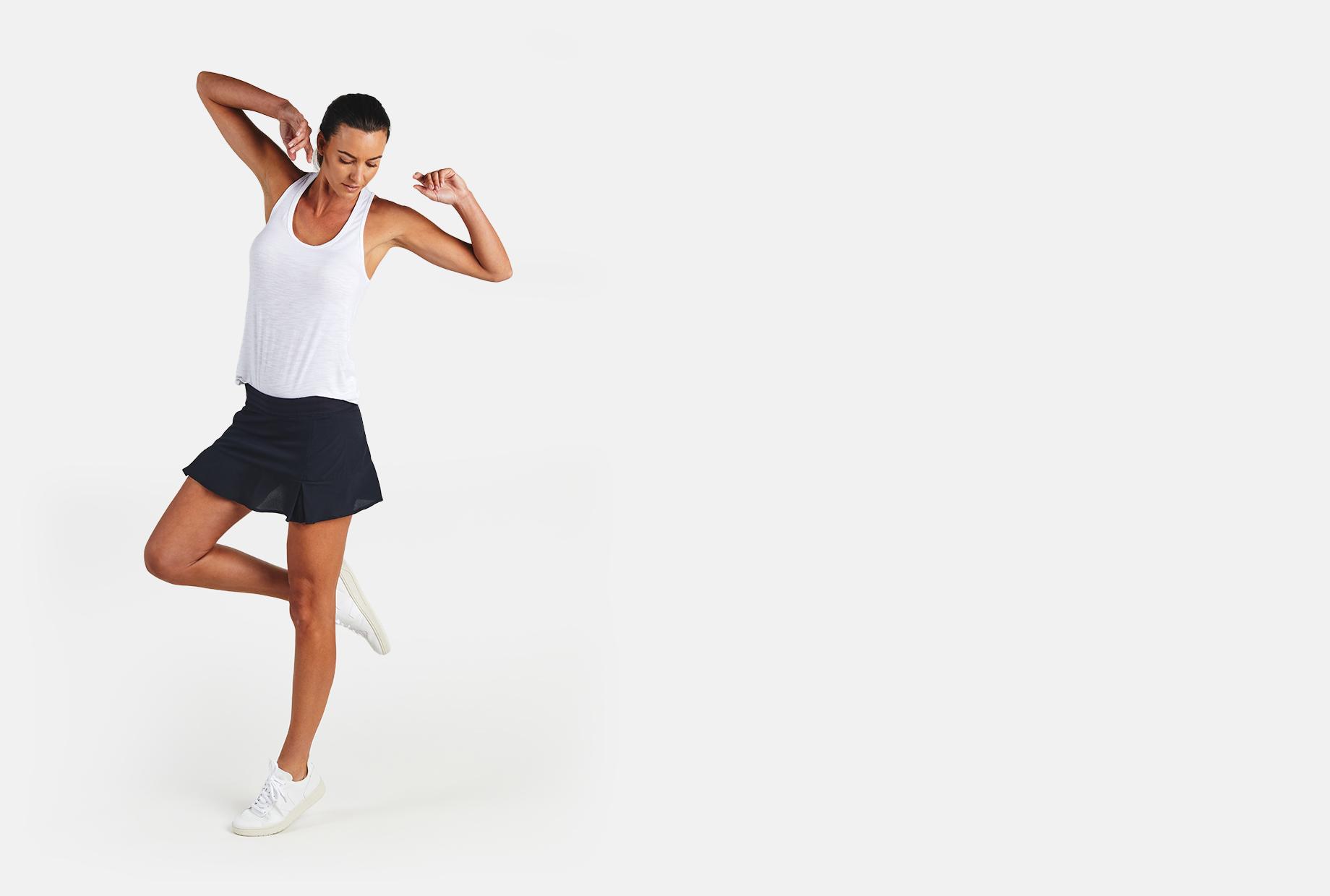 Women's bamboo Rhythm II Tennis Skirt - tasc Performance