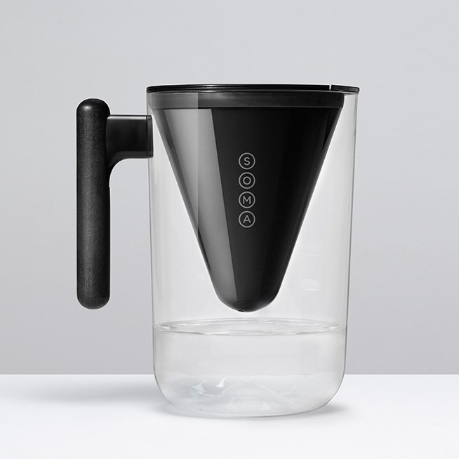 10-Cup Black Pitcher