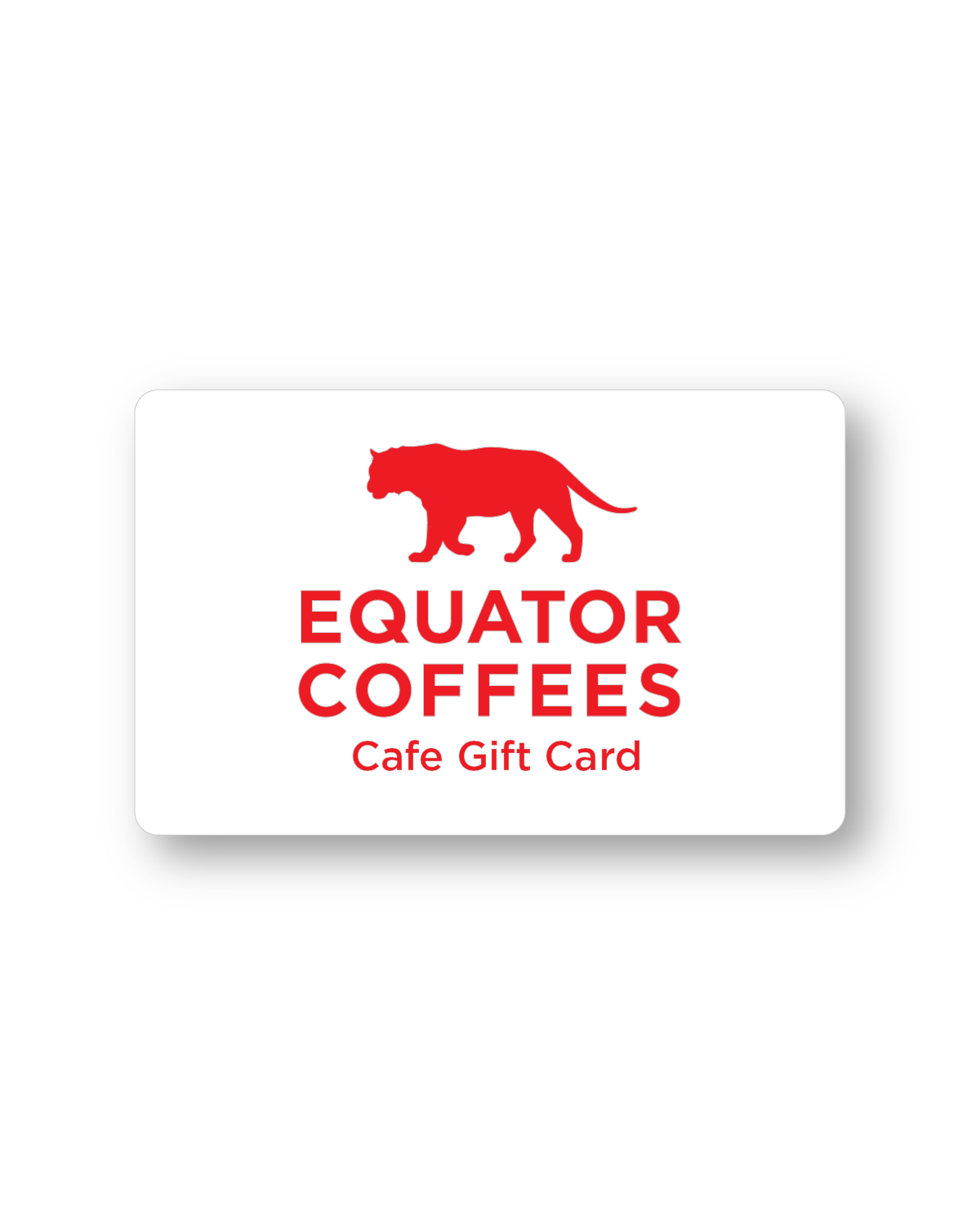 Gift Card - Equator Cafes