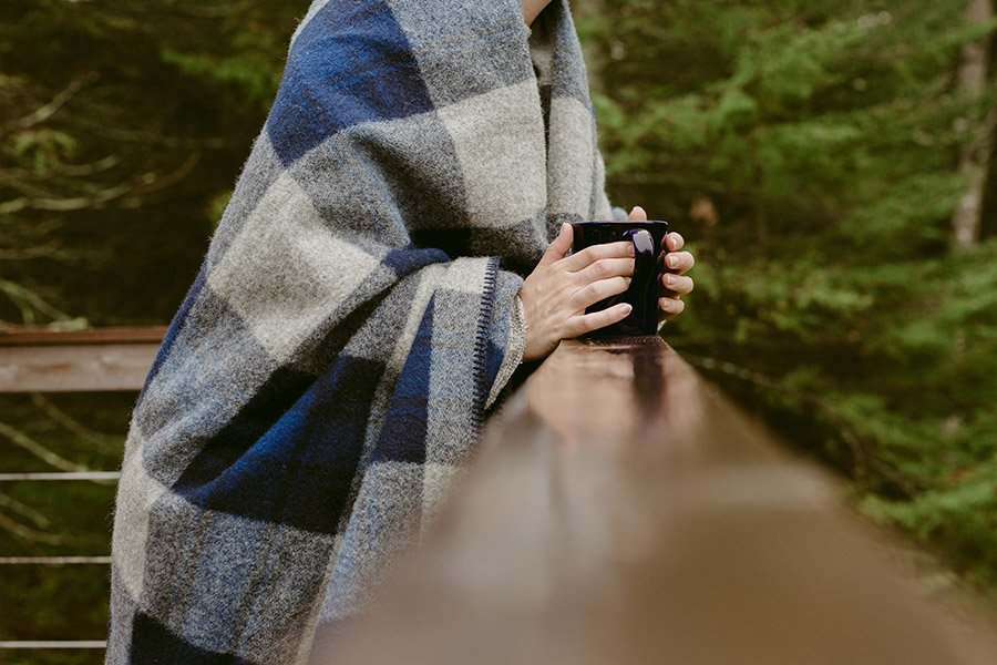 image of Defender Plaid Wool Blanket