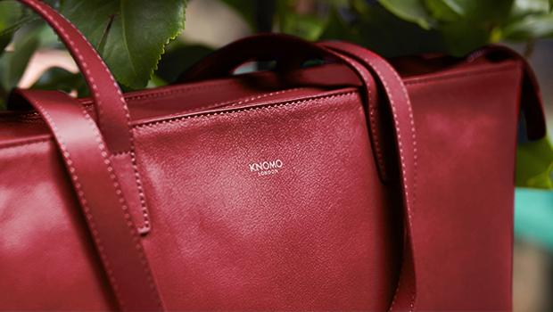 "KNOMO Mini Maddox Leather Laptop Tote Bag - 13"" Lifestyle Image |knomo.com"