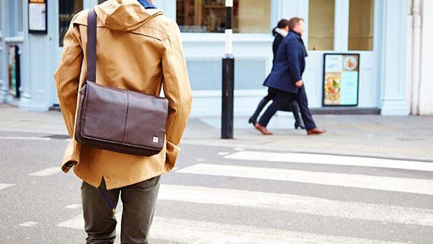 "KNOMO Kinsale Leather Laptop Messenger Bag - 13"" Lifestyle Image | knomo.com"