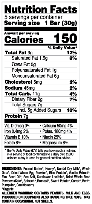 Peanut Butter Cookie nutritional information
