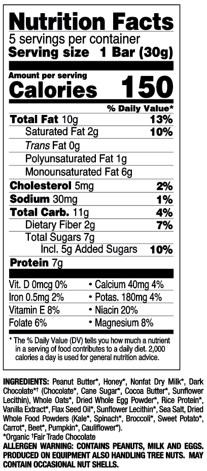Chocolate Chip nutritional information