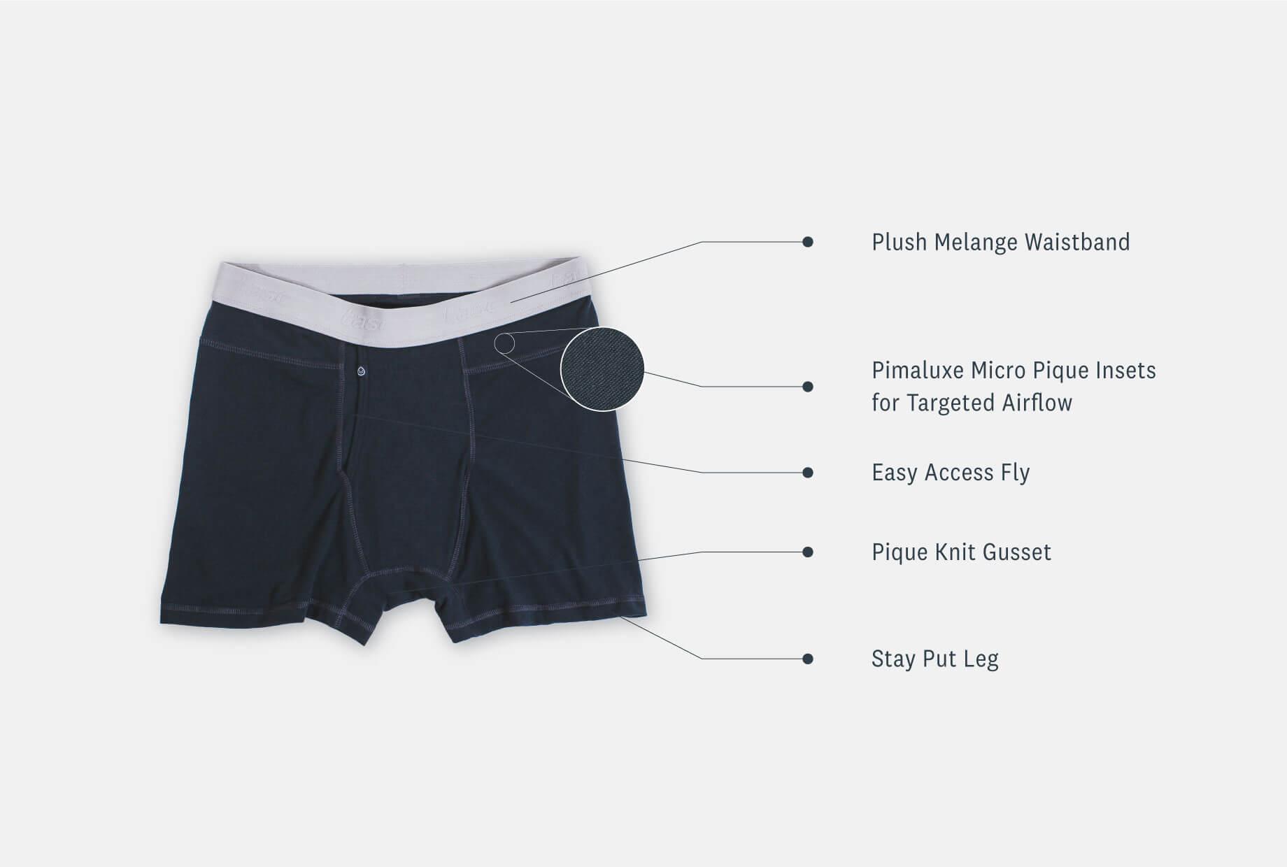 Men's Pima Cotton Boxer Brief Underwear - tasc Performance