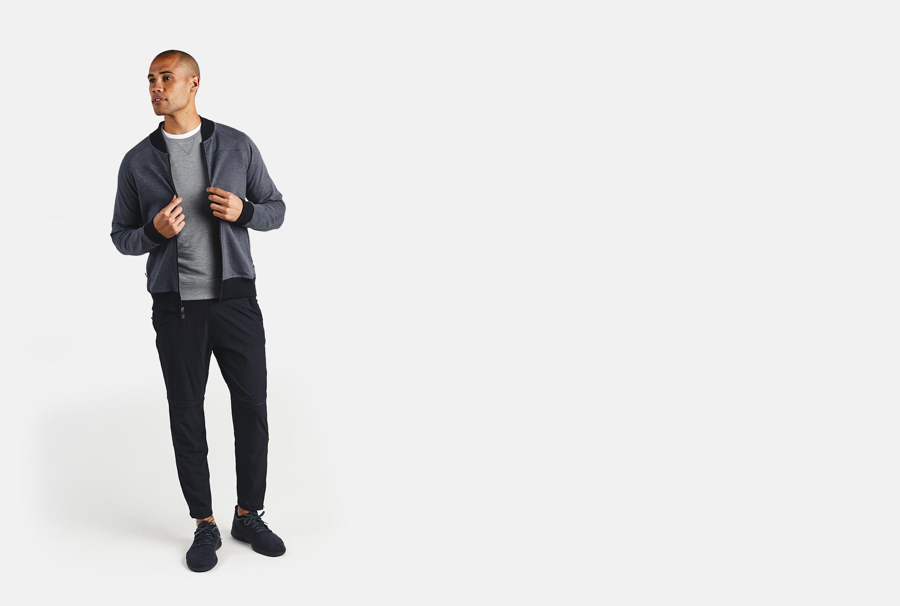 Men's Bamboo Midtown Full Zip Jacket - tasc Performance