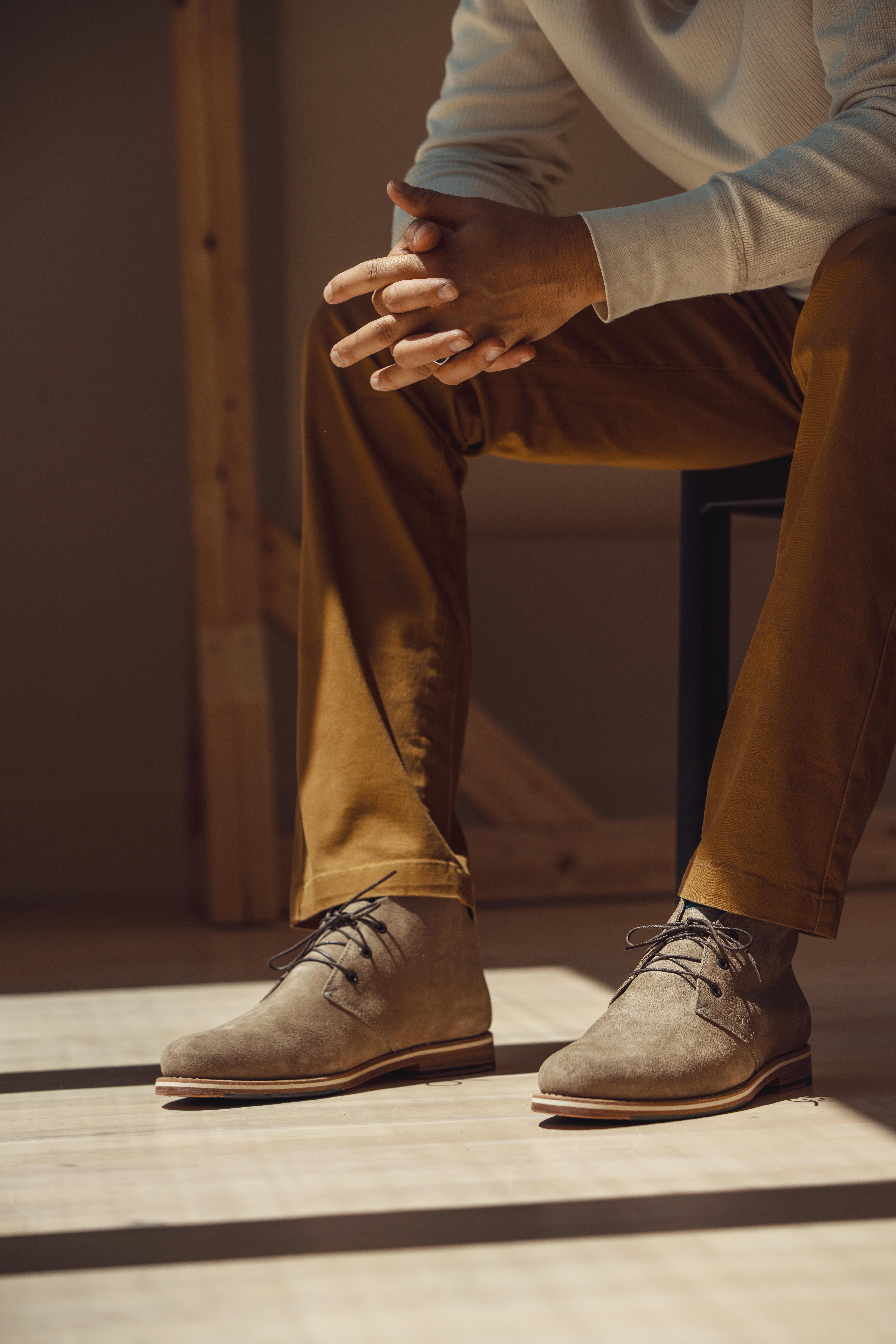 Declan Tan being worn