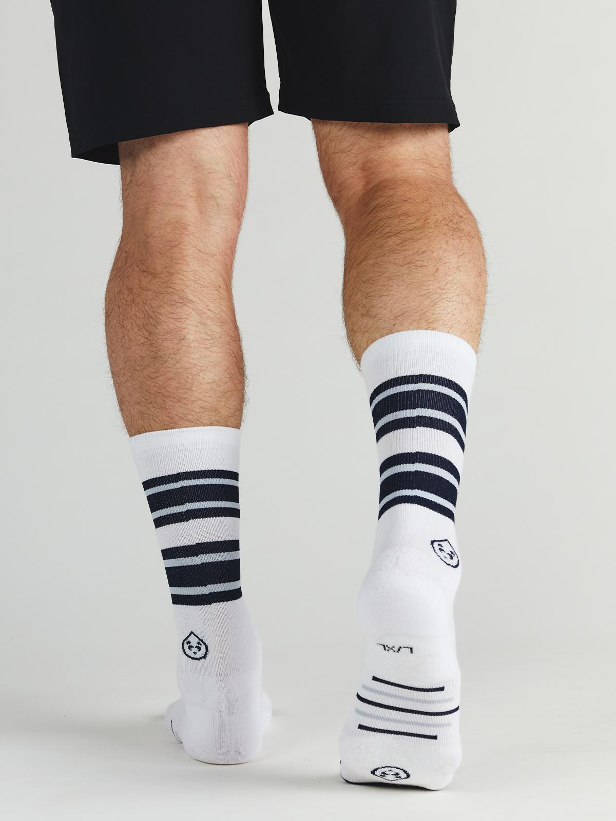men's crew mid calf socks