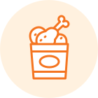 fried chicken in bucket