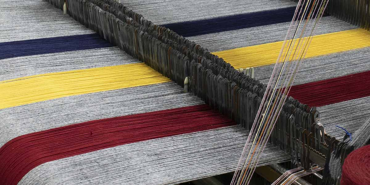 image of Revival Stripe Wool Blanket