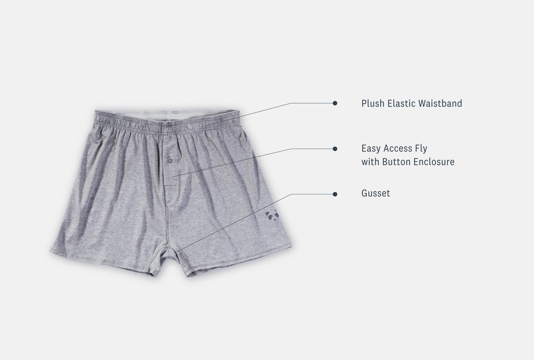 Men's Bamboo Bam(Bare) Loose Fit Boxer Underwear - tasc Performance