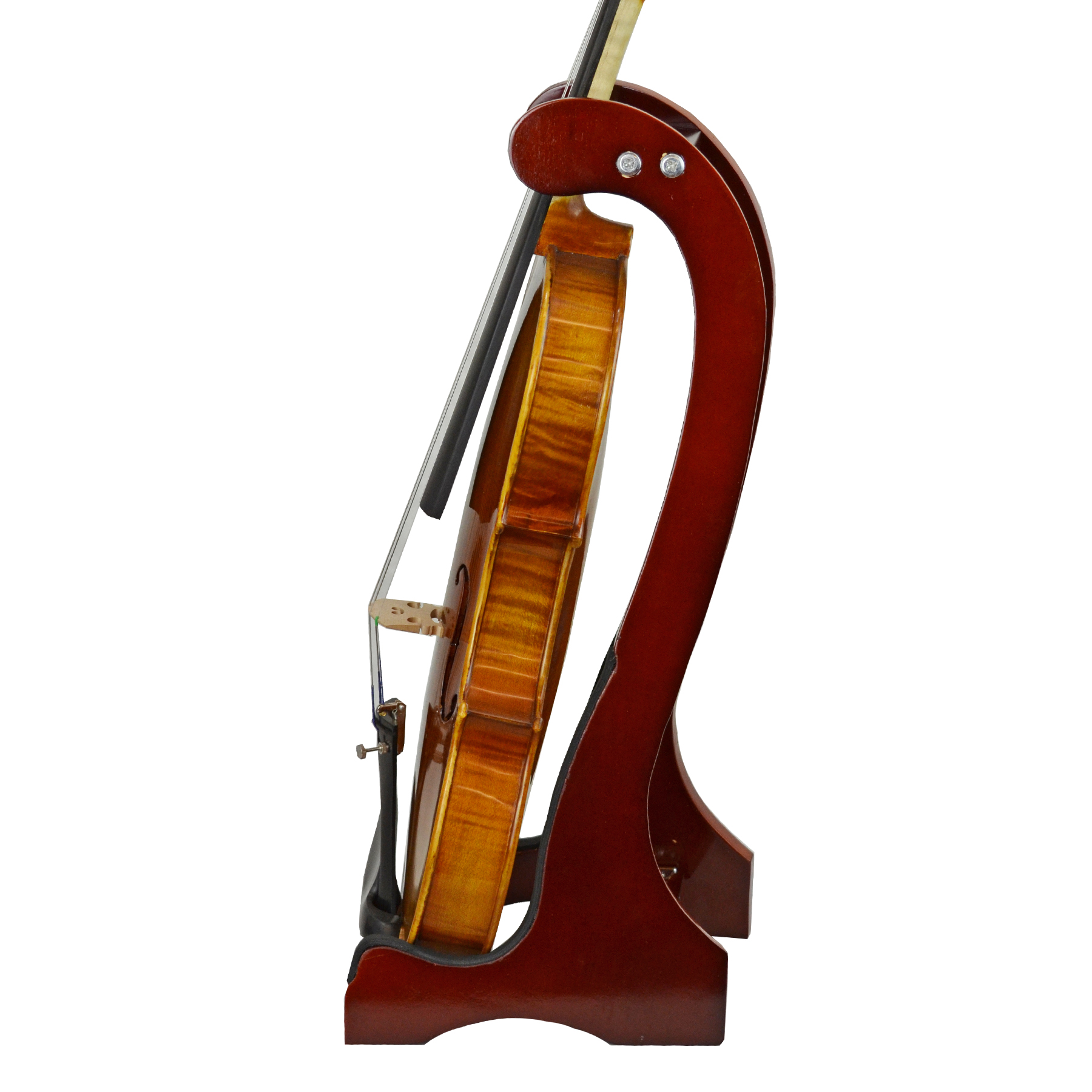 Wooden Violin Stand in action