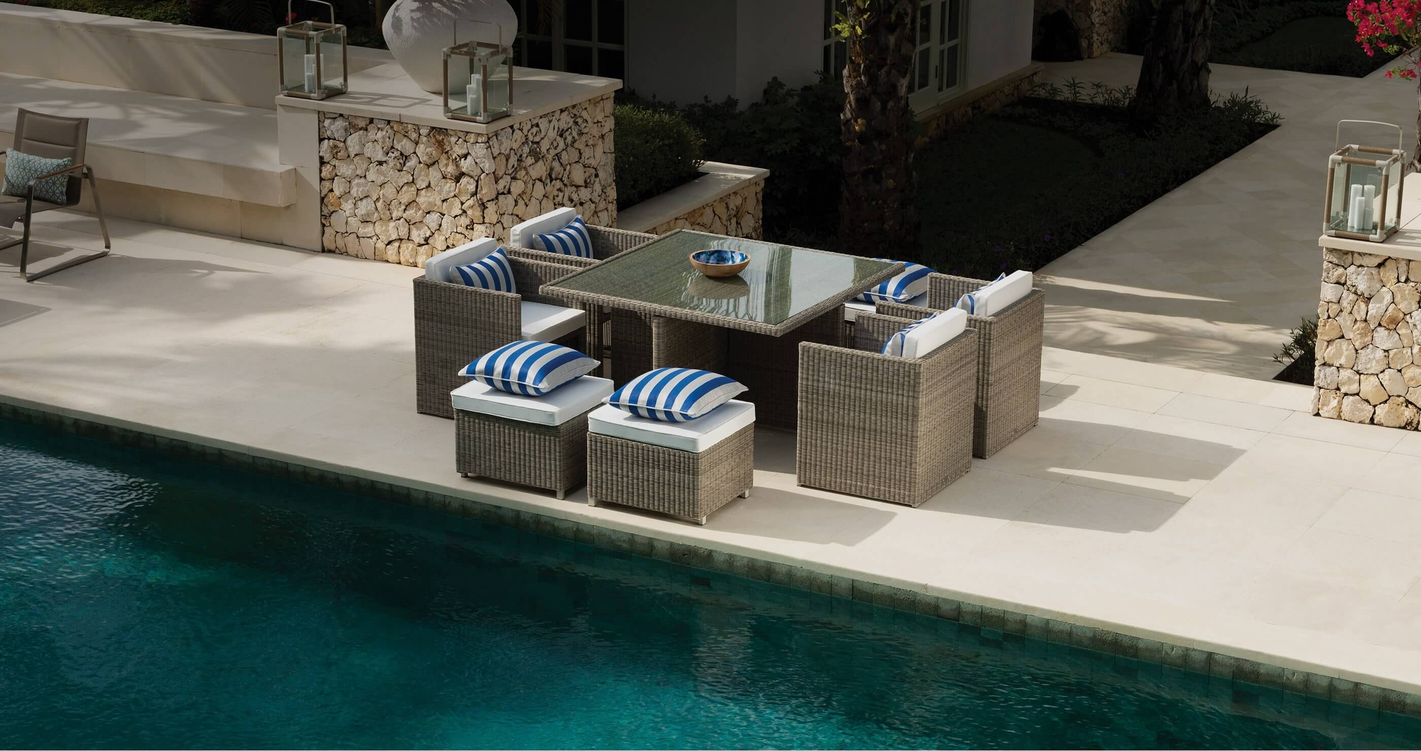 Indian Ocean furniture: luxury outdoor table and chair set