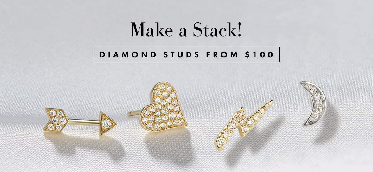 Serena William's Earrings - Frame your face, light up your look with diamonds for every day.