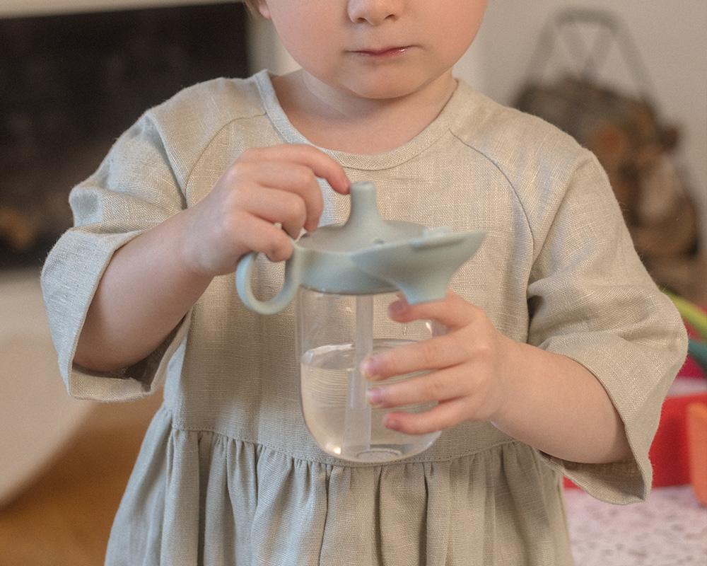 BONBO straw mug in blue