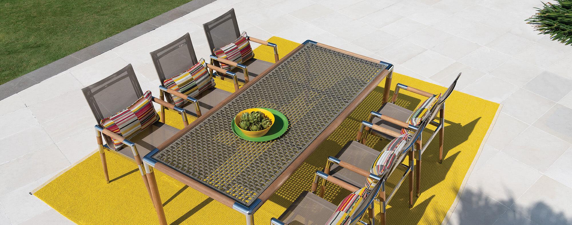 Marina designer outdoor table
