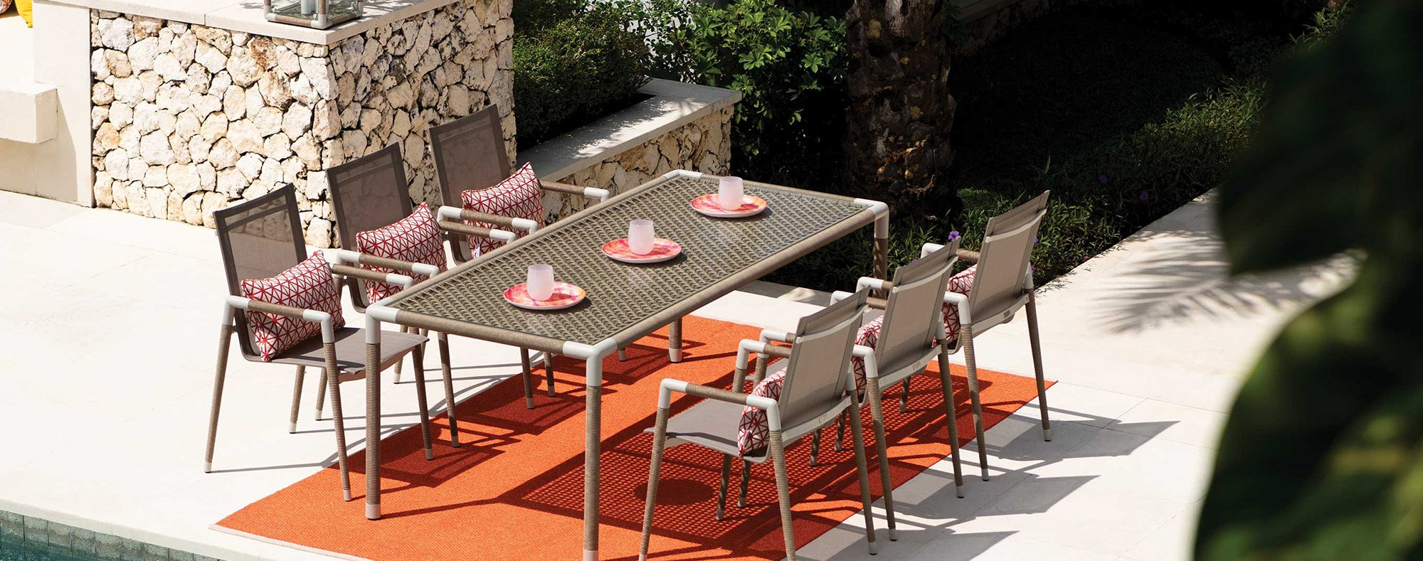 Marina designer outdoor table
