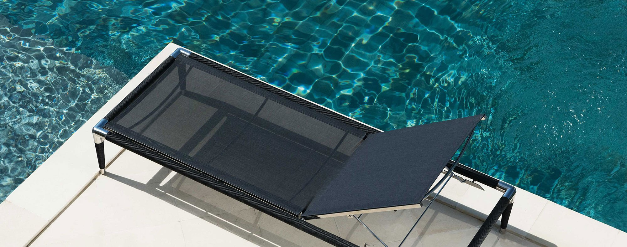 Luxury Marina Lounger, Electro-polished Stainless Steel sun lounger