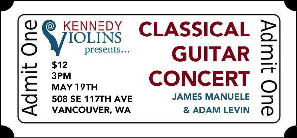 Classical Guitar Concert Ticket in action