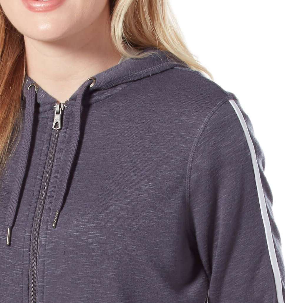 Women's B Chill Side Stripe Zip Up Hoodie
