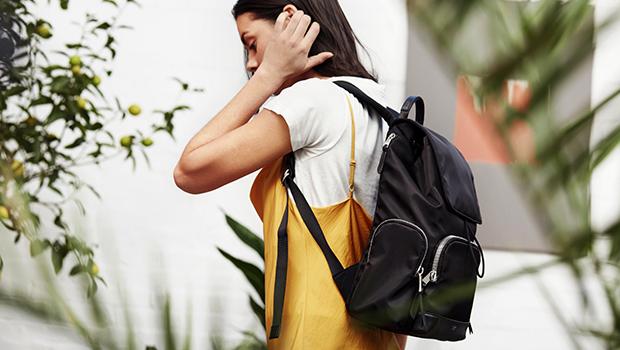 "KNOMO Clifford Laptop Backpack - 13"" Lifestyle Image |knomo.com"