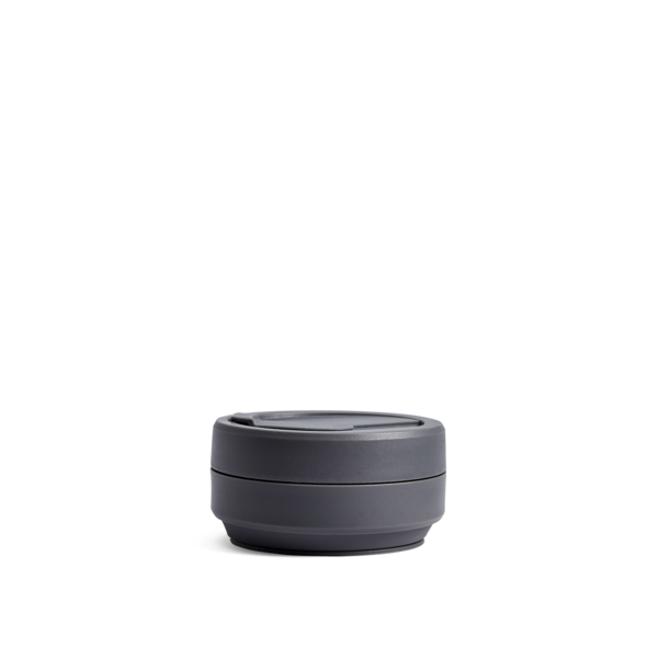 stojo pocket cup - brooklyn collection (carbon)
