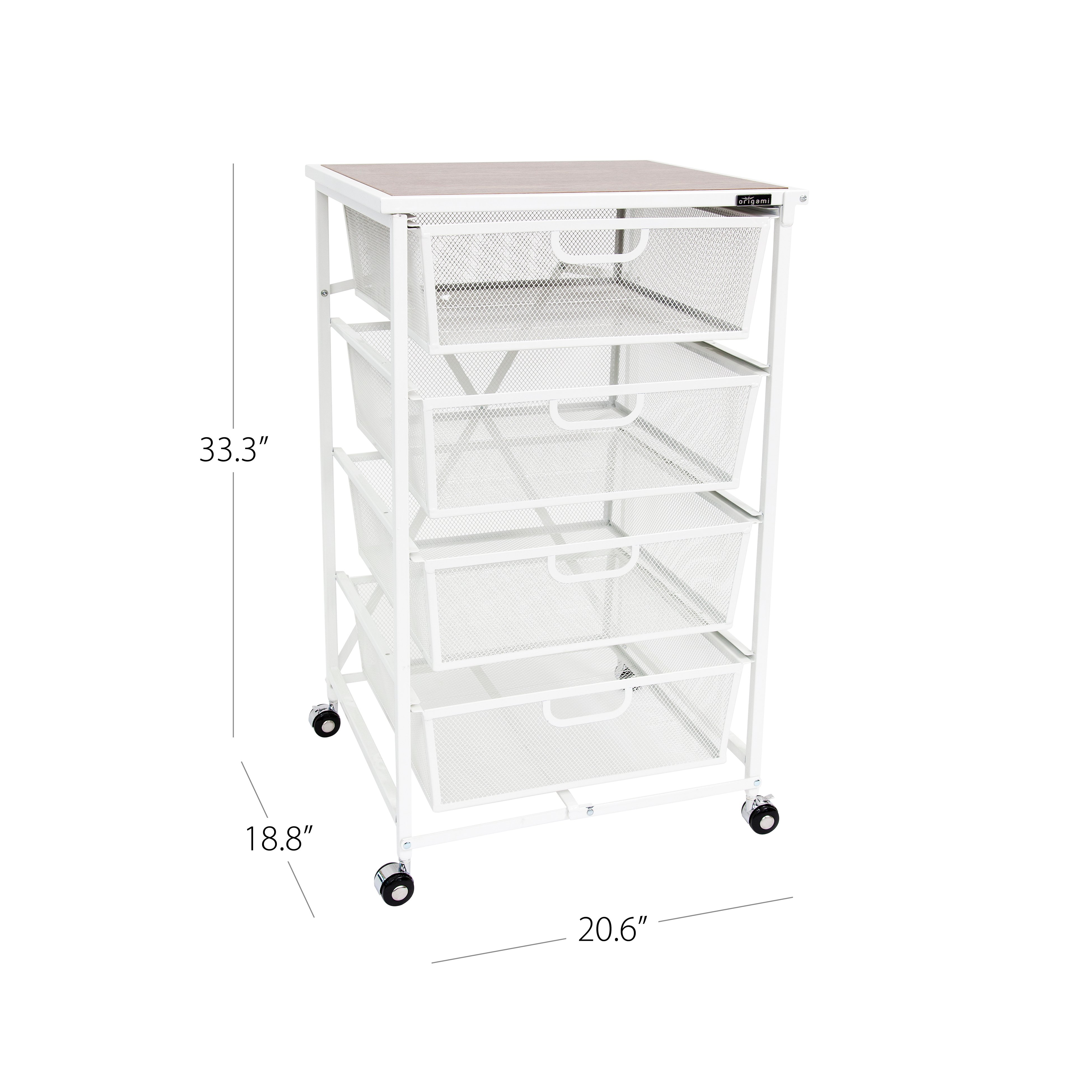 4-Drawer Storage Cart [Refurbished] | Origami Rack - photo#6