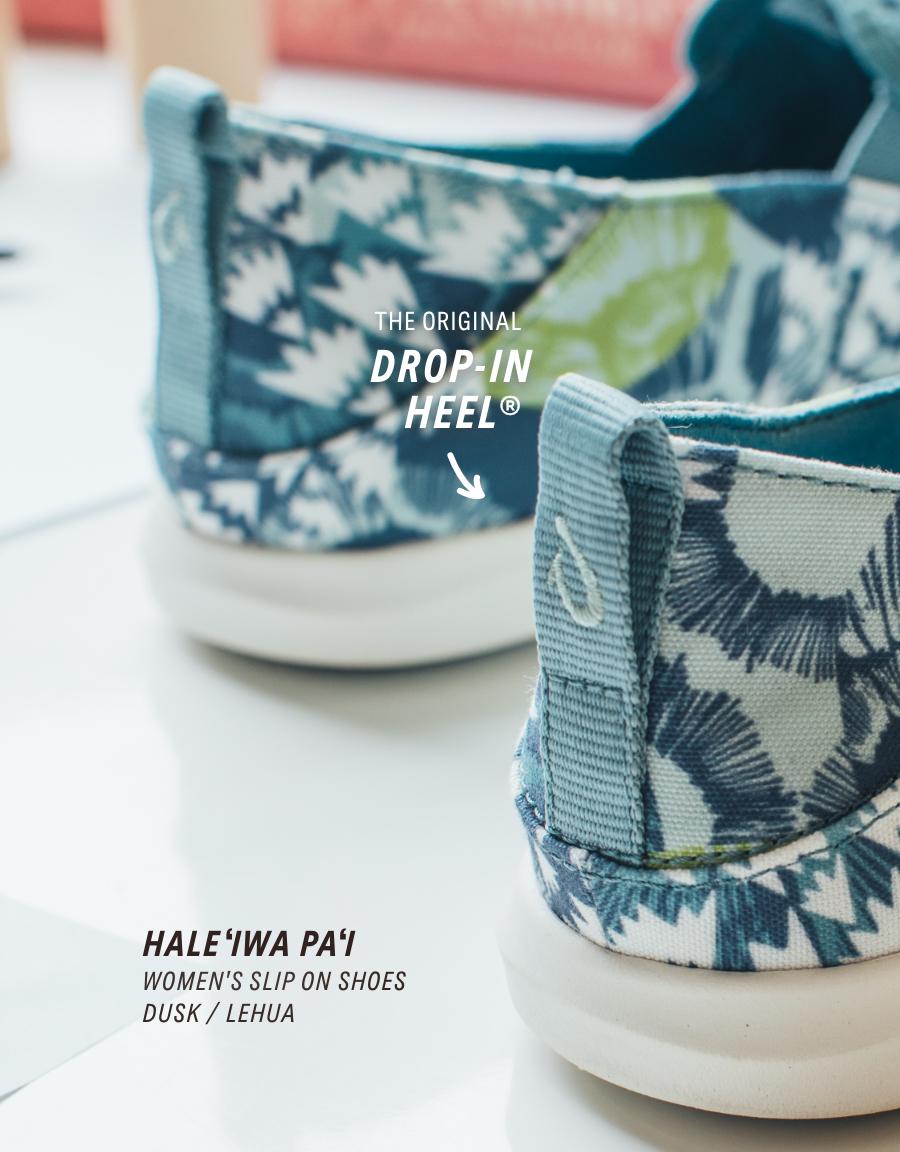 Haleʻiwa Paʻi OluKai Womenʻs Slip On Shoes in Dusk / Lehua