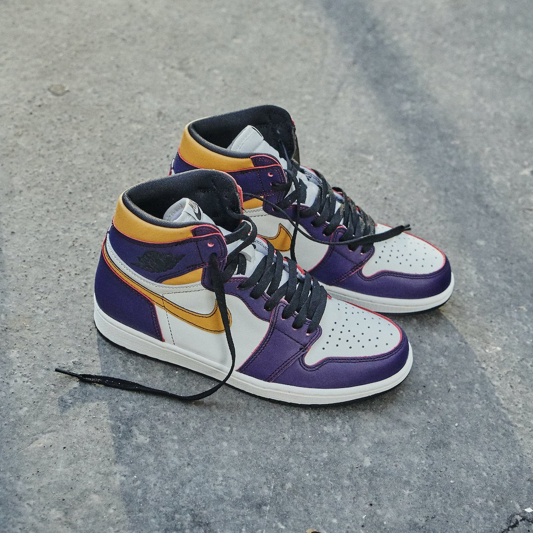 Air Jordan 1 retro high OG Defiant Nike SB Lakers-CD6578-507 ...