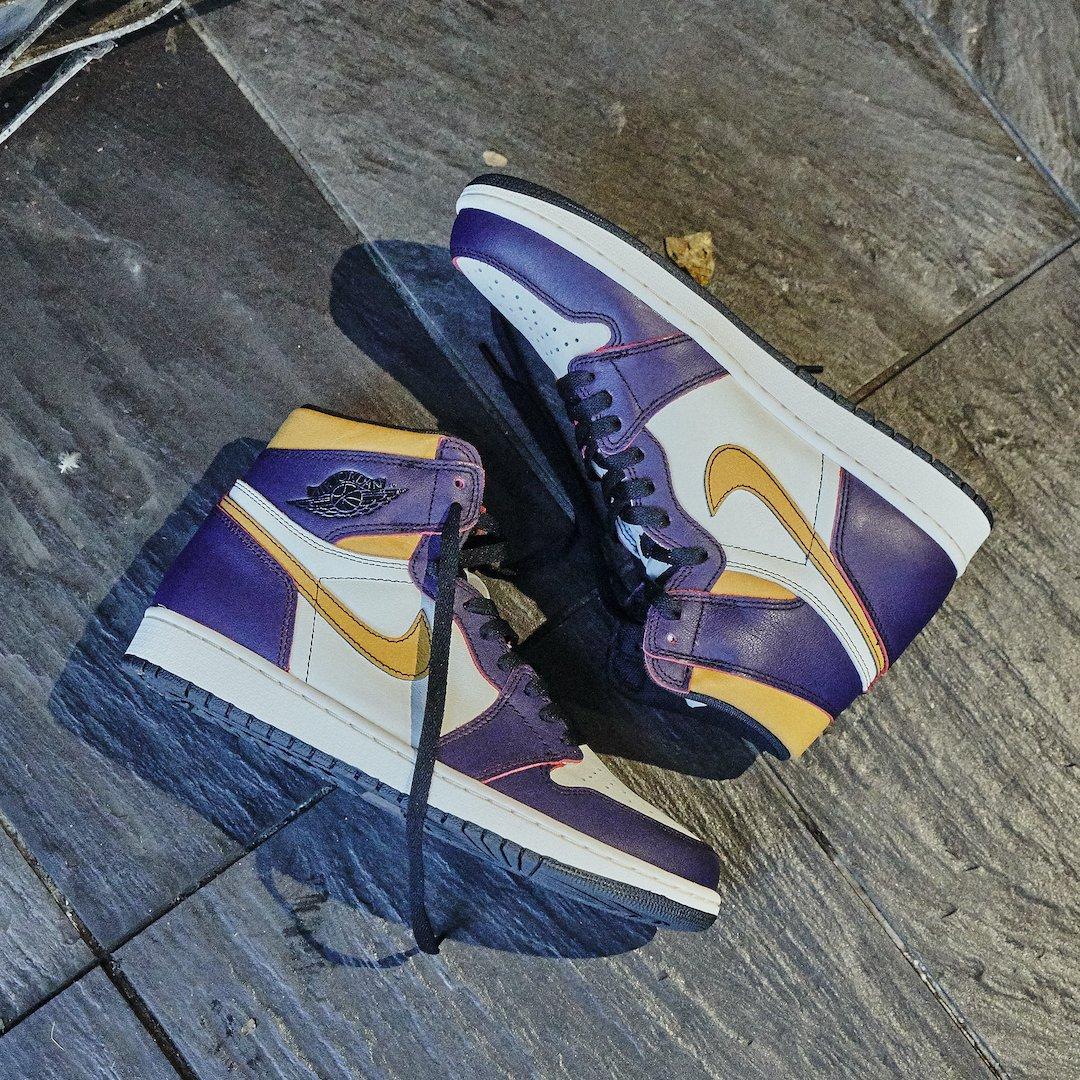 Air Jordan 1 Retro High OG Defiant Nike SB Lakers