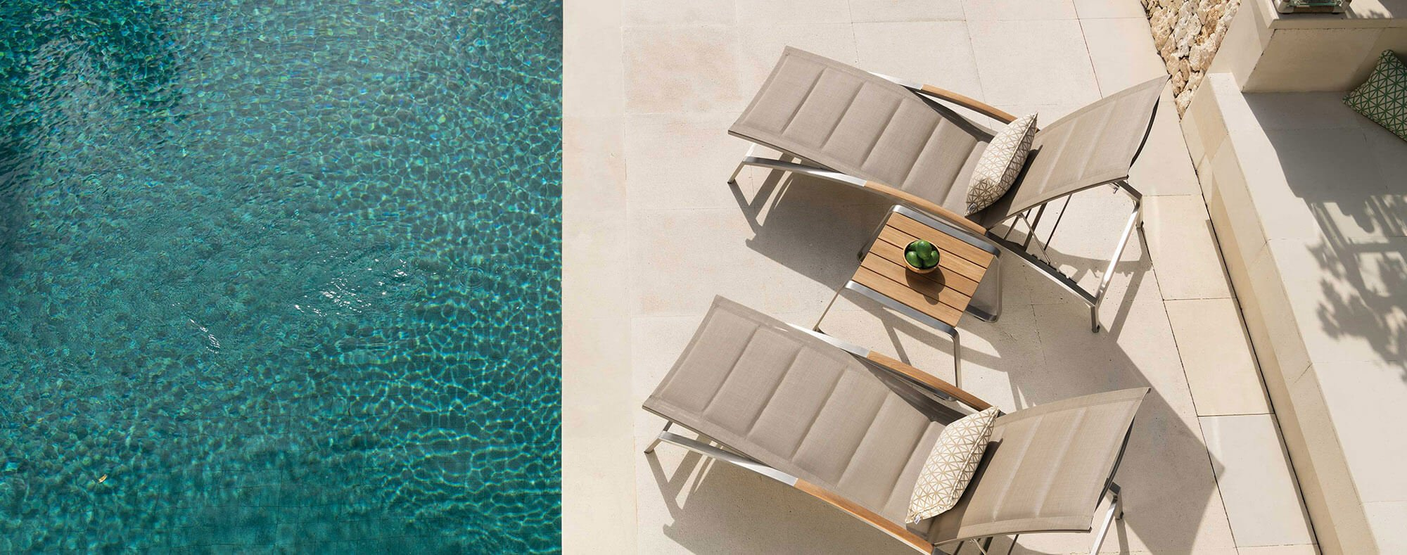 Plaza luxury sun lounger and coffee table