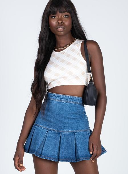 Denim Mini Skirts (Side B)