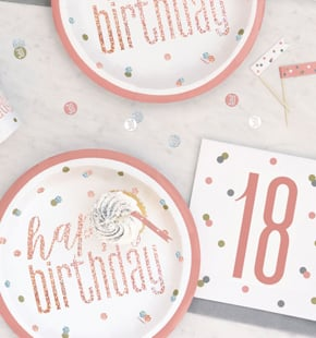 18th Birthday Party Decorations Tableware Balloons Party Packs
