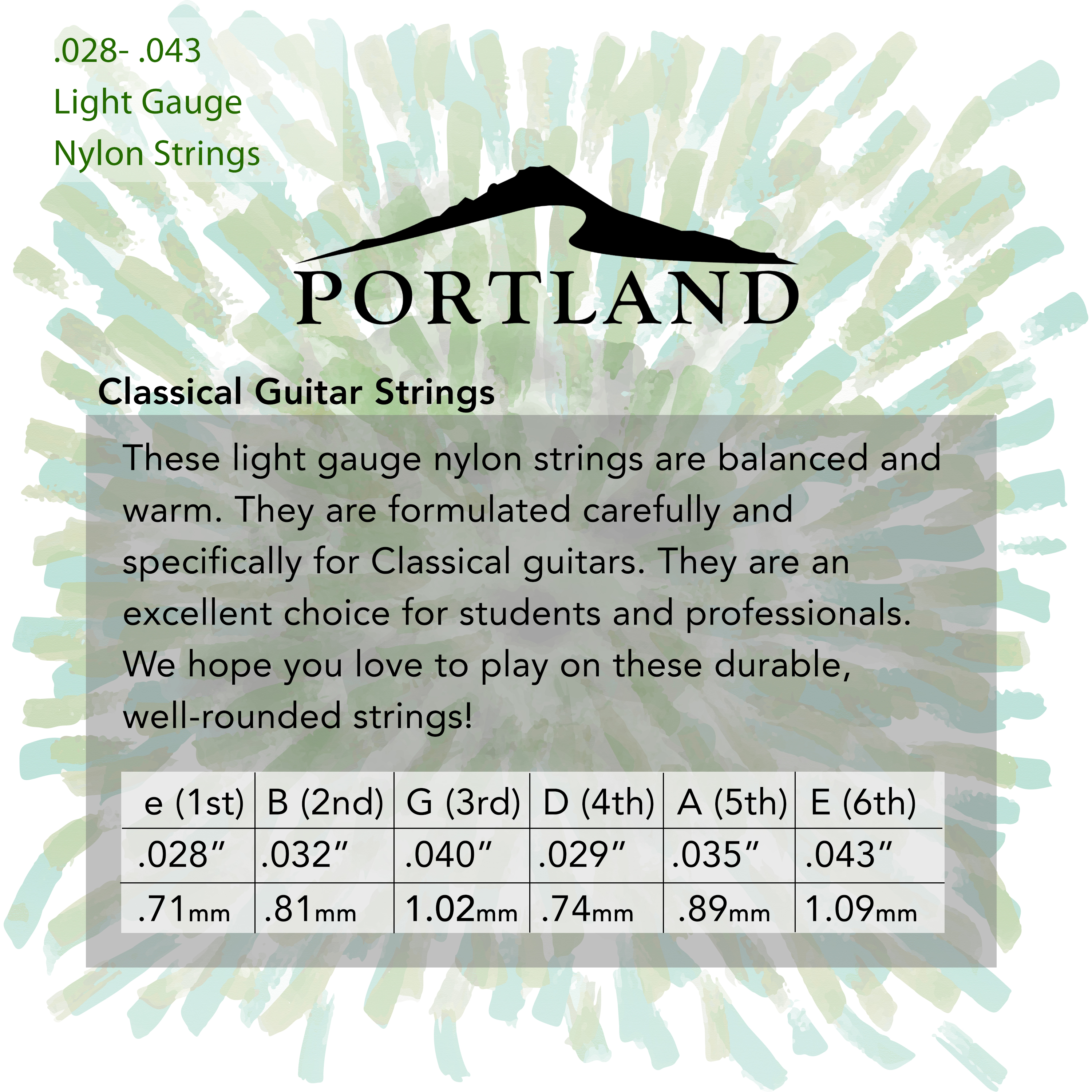 Portland Nylon Classical Guitar Strings in action