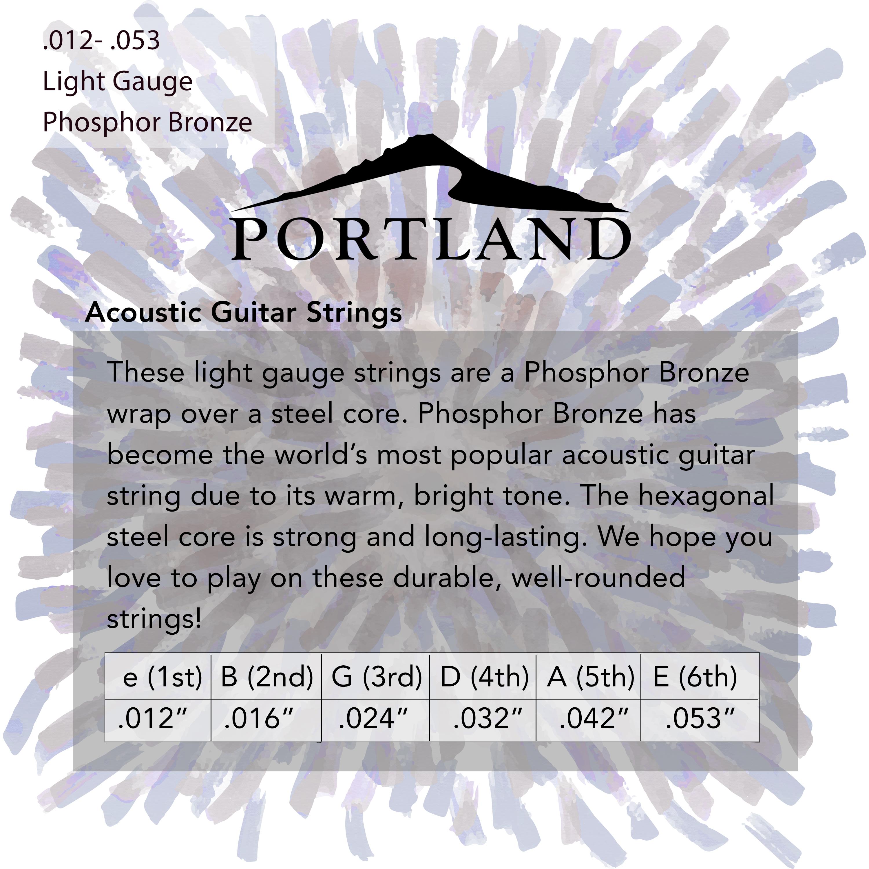 Portland Phosphor Bronze Acoustic Guitar Strings in action