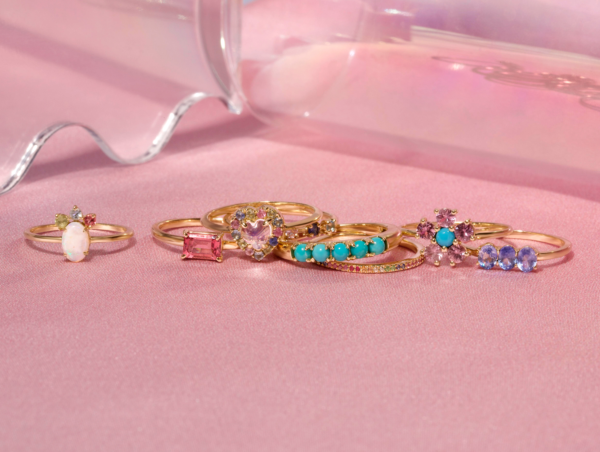 Colorful Gemstone Rings