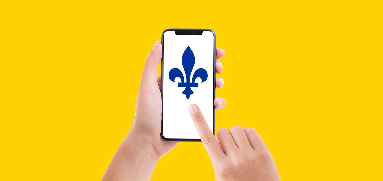 Fièrement québécois image description