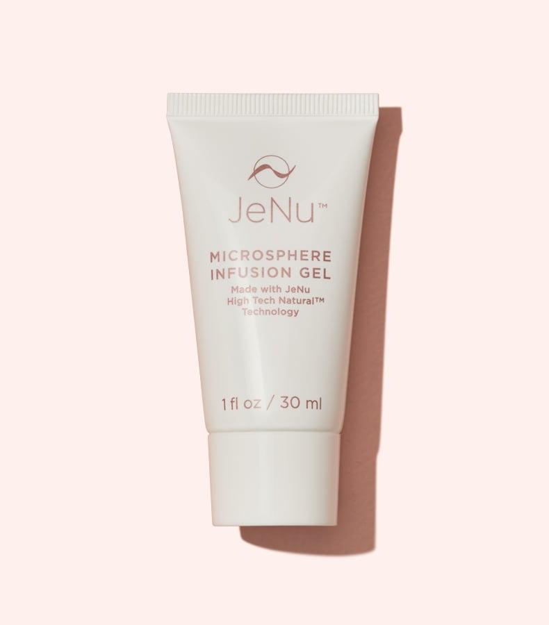 JeNu 30mL Infusion Gel on Pink Background