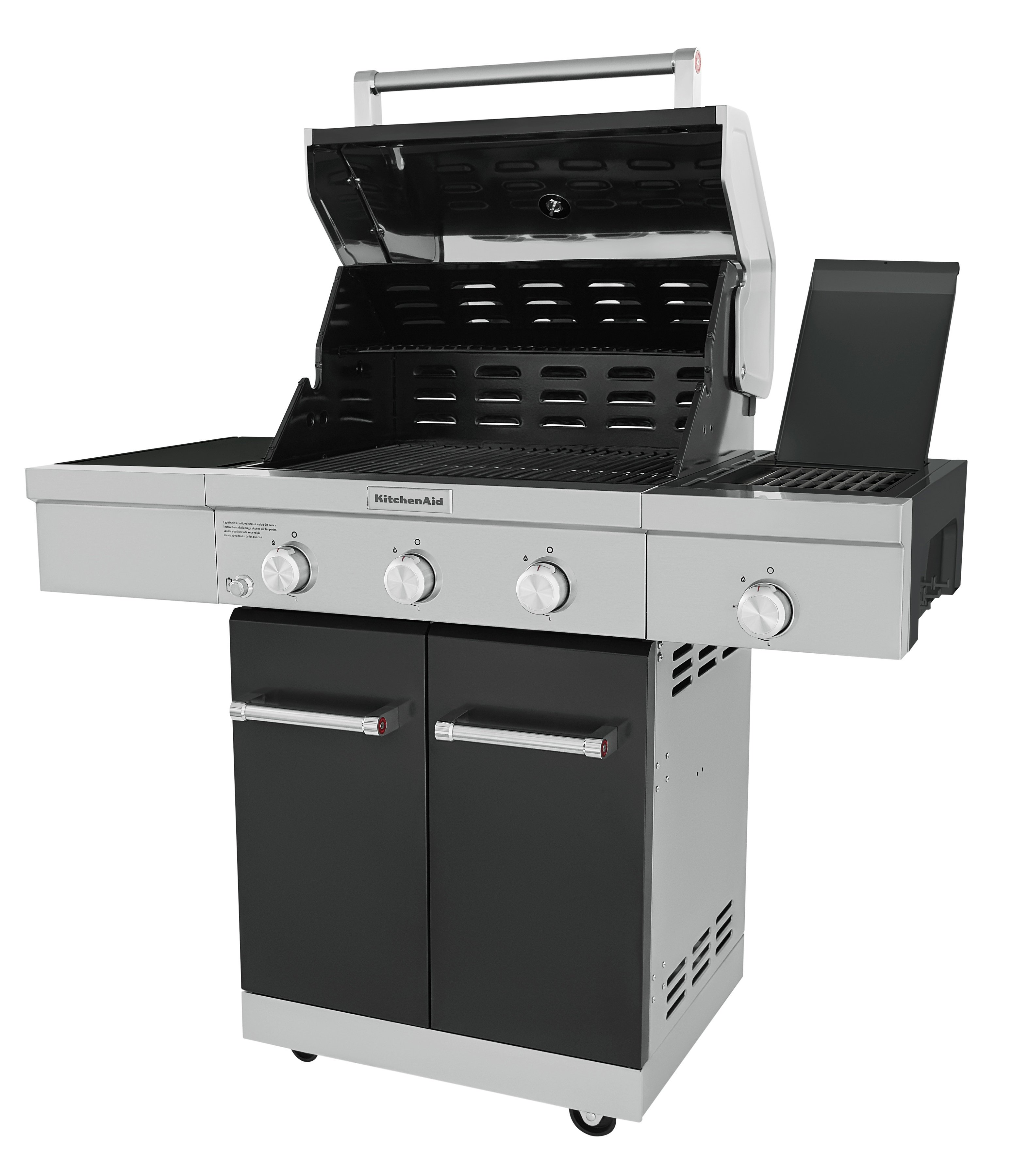 3-Burner Propane Gas Grill in Black with Ceramic Sear Side ...